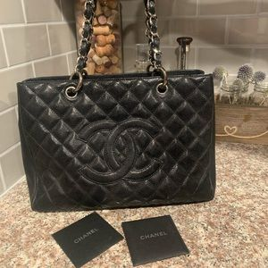Authentic Chanel Cavier leather GST